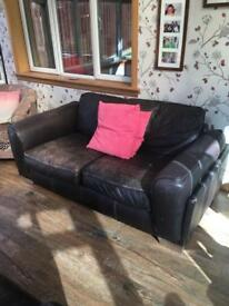 Three and two seater leather sofas for sale