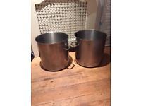 Large (50l) Bourgeat stock pots (x2)