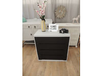 Vintage chest of drawers - black chalkboard paint