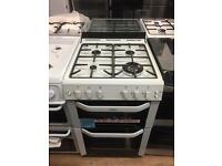 New Ex-Display Belling FSG55TCF White 55cm Gas Fan Assisted Cooker £399