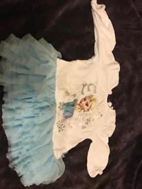 Elsa top with tutu 6-9 months