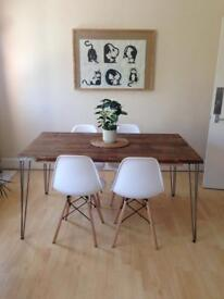 Handmade dining/kitchen/office table