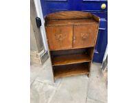 Vintage Mahogany Hall Storage/Bookcase