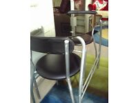 Glass Dining table and matching chairs (2)