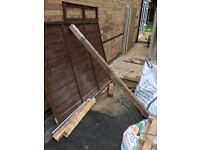 Free fence panel 5ft x 6ft and 7ft post