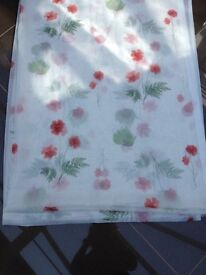 Voile Fabric with Poppy Design (1.5m x 4.2m)