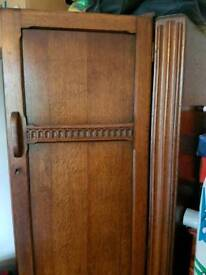 Antique wardrobe with matching dressing unit
