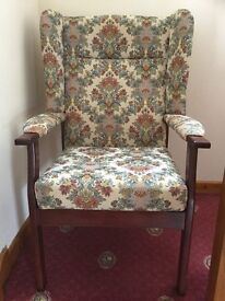 Cottage style Wing-back Armchair
