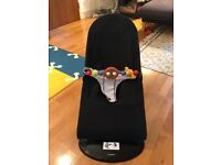 Baby Bjorn Bouncer with Wooden Toy