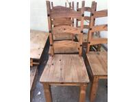 Mexican Pine Chairs