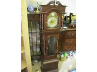 VINTAGE ORNATE LONGCASE - GRAND DAUGHTER CLOCK. VIEWING / DELIVERY AVAILABLE