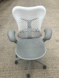 Herman Miller White Mirra Chairs