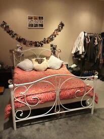 Practically new Double bed and mattress