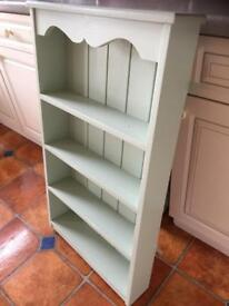 Chartwell Green shabby chic/country style painted wooden shelf unit