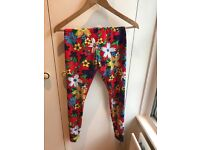Wild And colourful, limited edition Nike leggings, XS / uk size 6