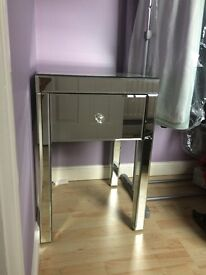 Mirror Glass Bedside Table from M&S