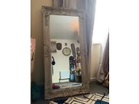Tall Silver Leaner Mirror French Mirror Large Mirror