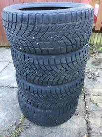 4x Winter Tyres E46 BMW 225/45 R17