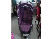 Used Petite Star Zia Purple Berry Pushchair Single Seat Stroller
