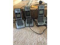 BT 2000 Trio of cordless house phones