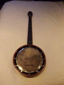 Vintage 5 string zither banjo