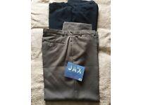 Two pairs of Jax trousers brand new never been worn 40 waist, regular