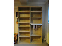 Ikea Besta book case/ shelving unit with removable filing drawer