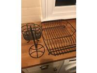 John Lewis dish drainer, cutlery drainer and kitchen roll holder