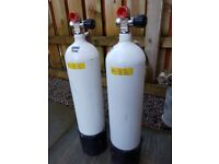 two 300 bar 7 litre diving cylinders for sale