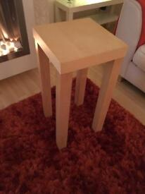 Solid wood lamp table.