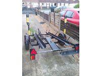 heavy duty double motorbike trailer