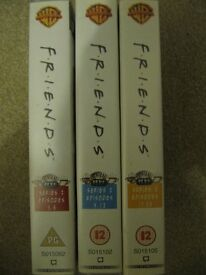 Friends Videos Series 2 Episodes 5-8, 9-12 and 17-20 good condition £3.00