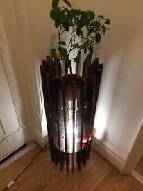 Hand made custom wood lamp