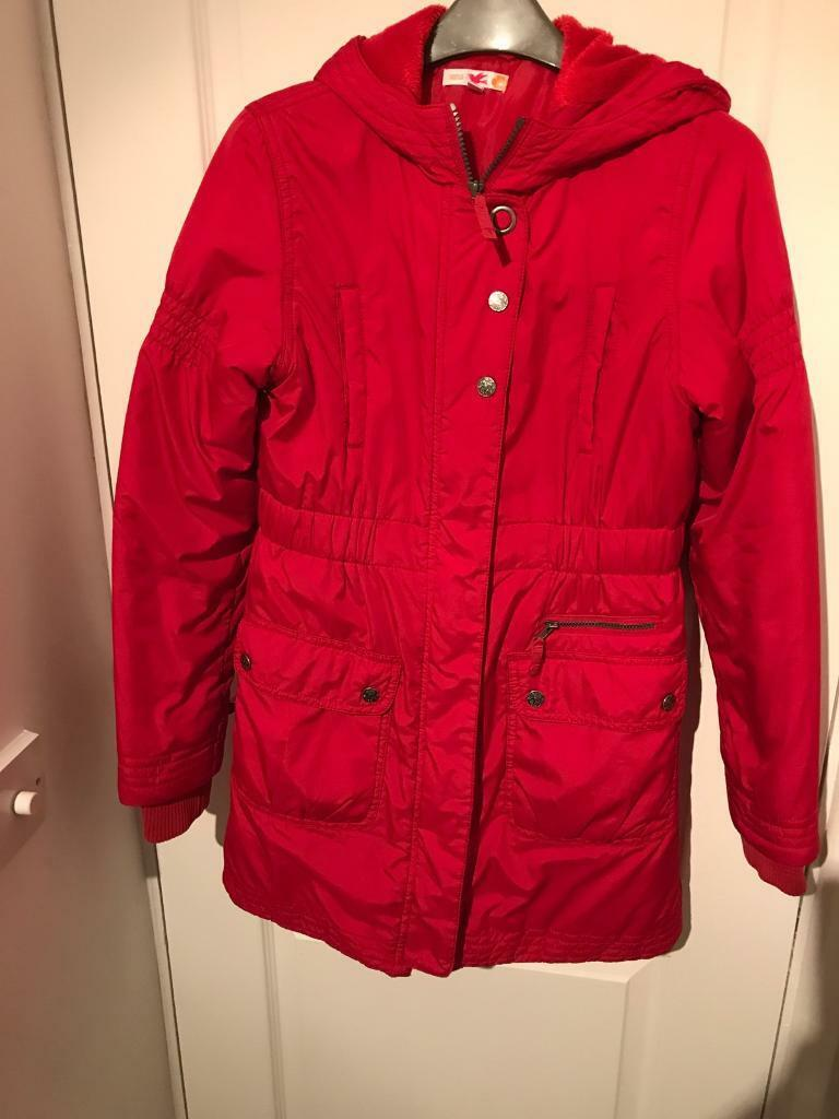 Marks and Spencer girls red coat