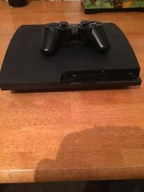 PS3 slim 160gb with 7 games. 1 dual shock cont.
