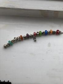18cm full pandora silver charm bracelet
