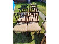 Set of 7 mahogany dining chairs