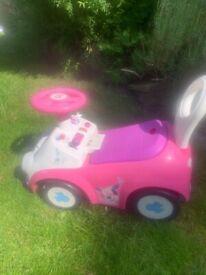 Freebie - Disney pink ride on