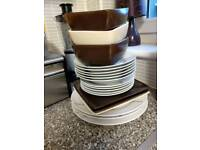 Dinner plates and bowls
