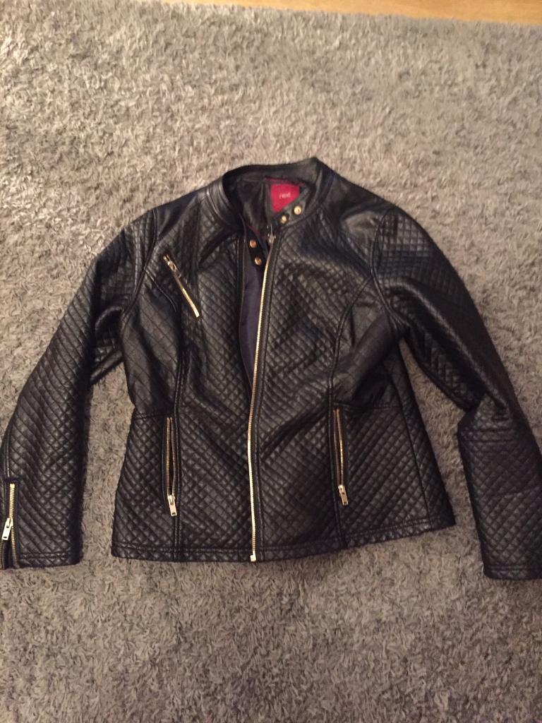 Faux leather jacket size 16