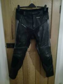 Range of motorcycle leather trousers