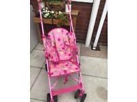 Pretty pink stroller