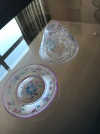 Yankee Candle matching plate and shade