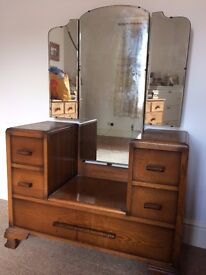 Antique pine dresser with full length mirror. In great condition
