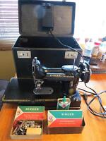 2 Vintage Singer Featherweight Sewing Machines