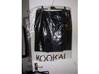 New Kookai military style black skirt with pockets