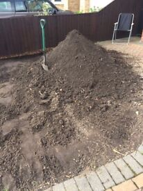 Free soil from front garden