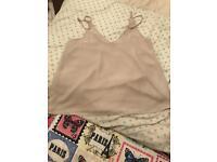 Ladies grey cami top