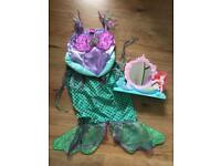 Ariel little mermaid costume Disney 5-7 y
