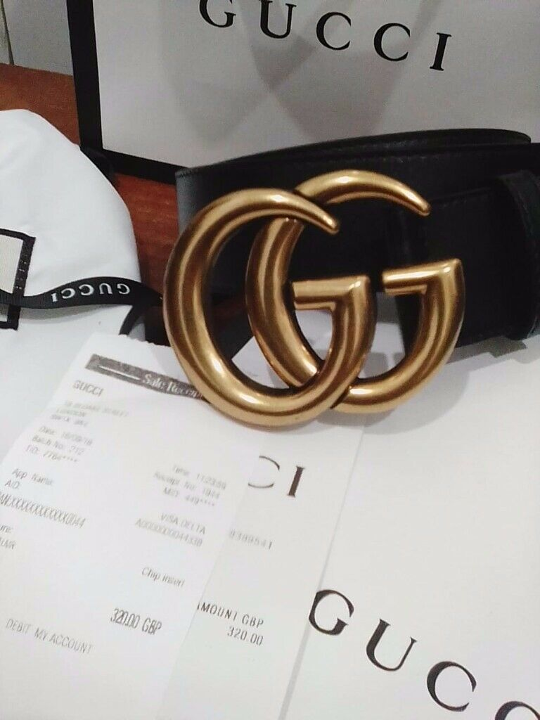 b795202e07f GG MARMONT GUCCI BELT brand new unused APOOT boxed with receipt